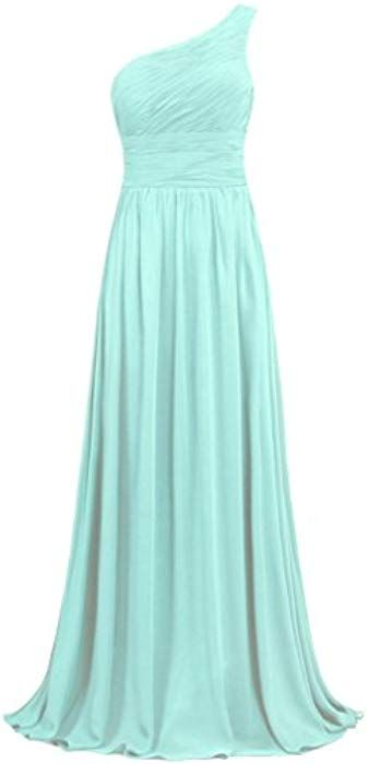 deacedbdab5 ANTS Women s Pleat Chiffon One Shoulder Bridesmaid Dresses Long Evening Gown  Size 10 US Blush at Amazon Women s Clothing store