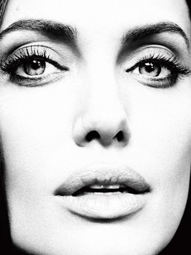 "Angelina Jolie - On her career:    ""I woke up one day realizing, God, I'm an actor. I don't think I intended to be an actor. I think my mother wanted it for me. I loved telling stories, and I enjoyed the profession, but is it too late to be something else?"""