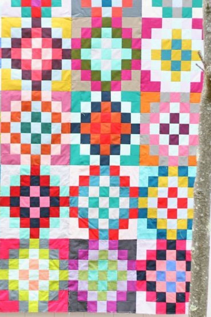 checkered garden, a quilt tutorial