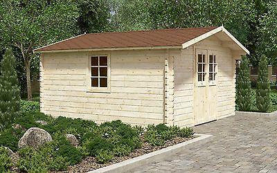 44 mm Gartenhaus ca. 400x300 cm Gerätehaus Blockhaus
