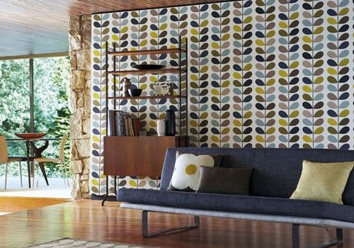 Small Acorns wgtn - Orla Kiely Wallpaper