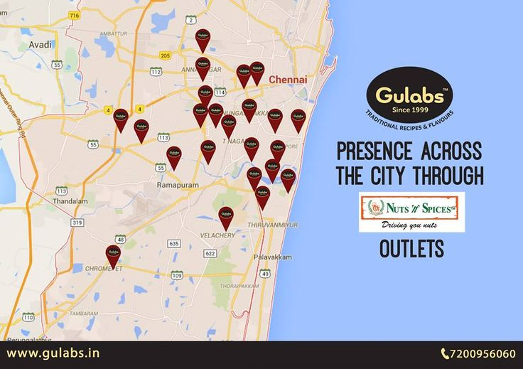 Gulabs presence across the city through Nuts 'n' Spices outlets. Go and grab your favorite now!