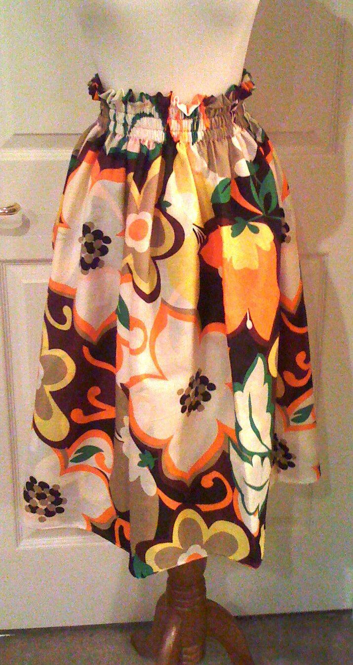 Elastic Waistband Skirt For Spring