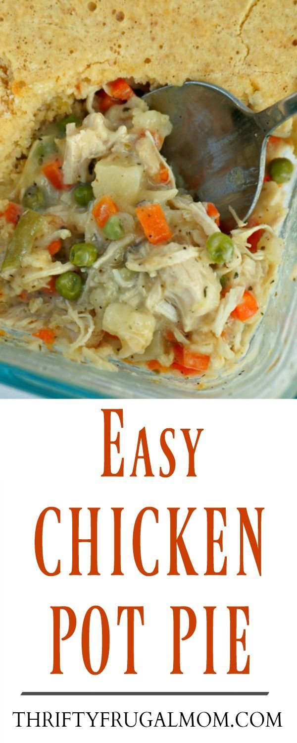 This Easy Chicken Pot Pie is perfect for nights when you need a quick, cheap dinner recipe. It's hearty, super delicious and has become a family favorite!