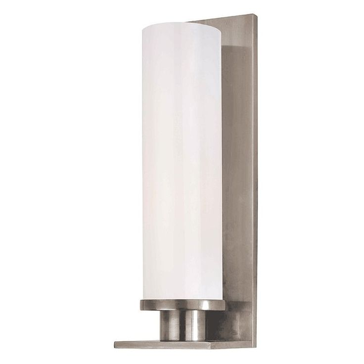 Hudson Valley Lighting 420 Single Light Up Lighting Wall Sconce with Cylinder Sh Polished Nickel Indoor Lighting Wall Sconces Up Lighting