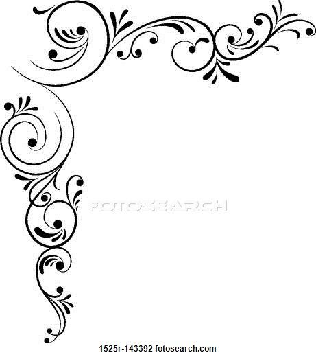 Clip Art of Element for design, corner flower, vector 1525R-143392 - Search Clipart, Illustration Posters, Drawings, and EPS Vector Graphics Images - 1525R-143392.jpg