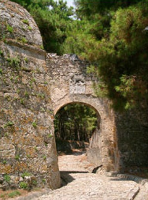 Zakynthos Island, the entrance to the Venitian fortress