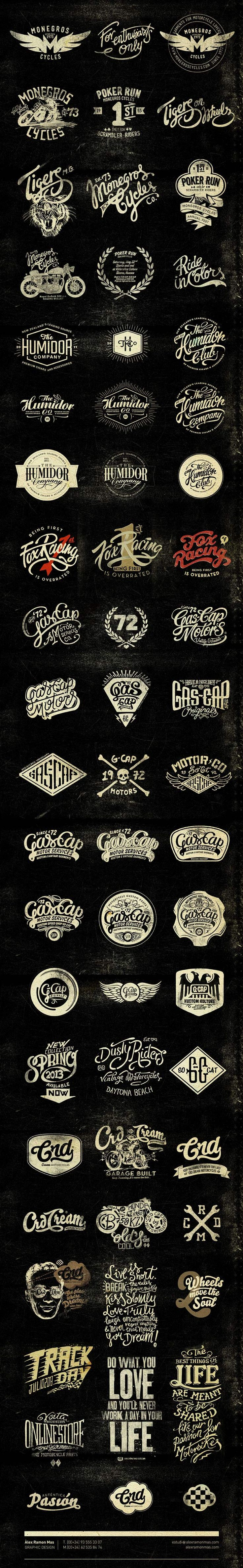 "Beautiful ""vintage"" typography from Alex Ramon Mas Designs - Alex Ramon Mas Studio:"