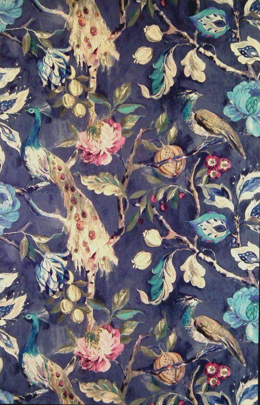 Hampton Court Sapphire (19911-710) – James Dunlop Textiles   Upholstery, Drapery & Wallpaper fabrics