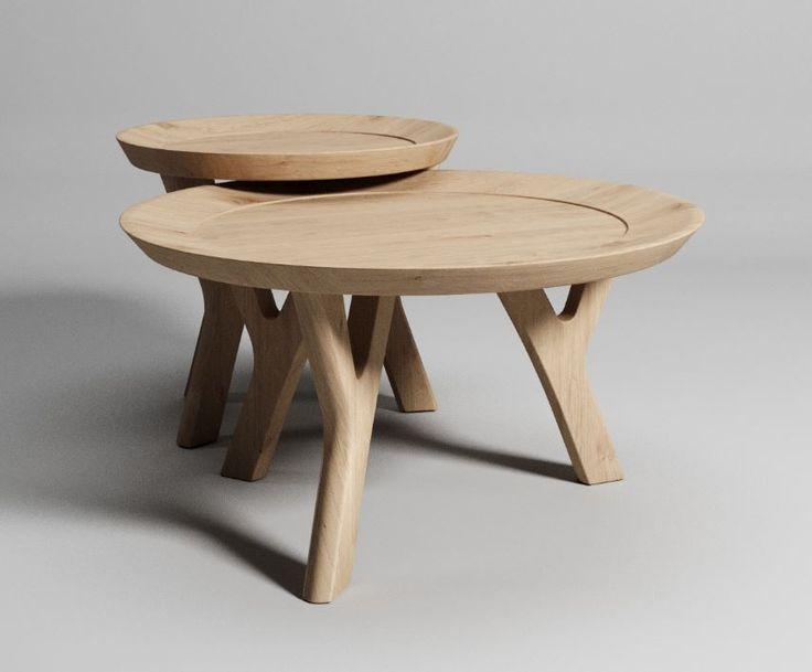 Aram Landeros y Pixel Folks comparten este modelo 3D de la mesa de centro Moraga, de la compañía de mobiliario estadounidense Pottery Barn.