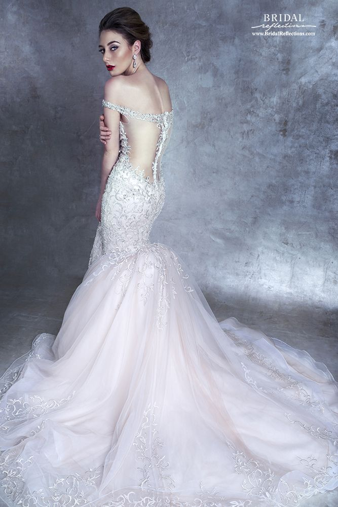 Stephen Yearick Wedding Dress and Bridal Gown Collection  I really would have preferred the zipper be inserted in the side seam to preserve the integrity of the illusion back, but that said, I do so love everything else about this gown.