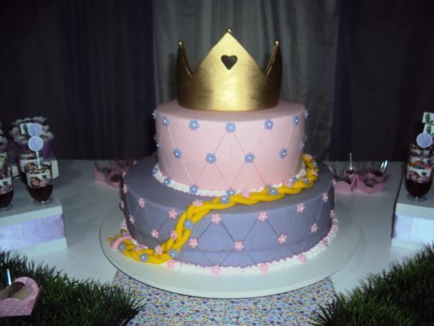 Modelo de torta cambiar corona fiesta rapunzel - Modelos de coronas ...