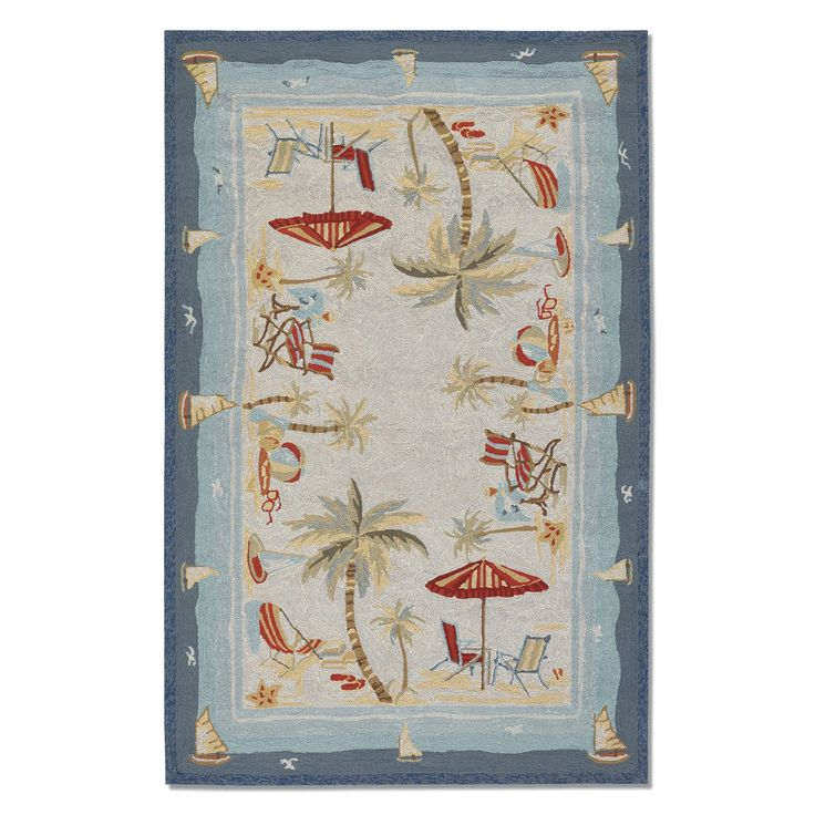 Couristan 21247025020040T Outdoor Escape Cocoa Beach Area Rug, Sand