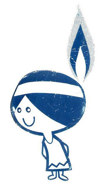 Vintage Minnegasco Minneapolis Natural Gas Indian Girl Logo Mascot