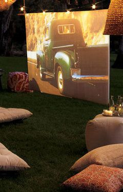 @Jess Liu Kofoed @StyleSpaceandStuff.Blogspot.com Kofoed we should find a projector this summer and do a movie night outside when it's warm!
