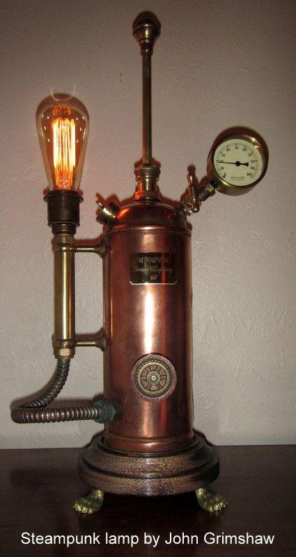 Steampunk lamp | steampunk | Pinterest | Lamps, Steampunk ...