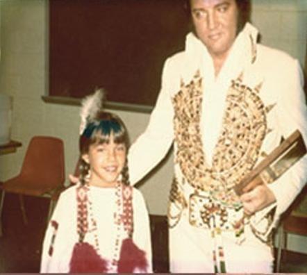 Elvis And Monique Brave Backstage Rapid City 1977 Elvis