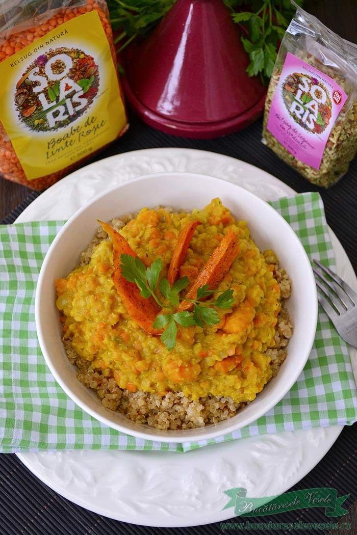Curry de linte si cartof dulce reteta de post.Curry de linte si cartof dulce reteta cu produse Solaris. Cum pregatim Curry de linte si cartof dulce