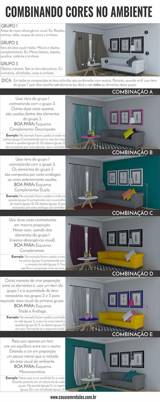 Casa Sem Rótulos, combinando cores no ambiente, paleta de cores, combinações