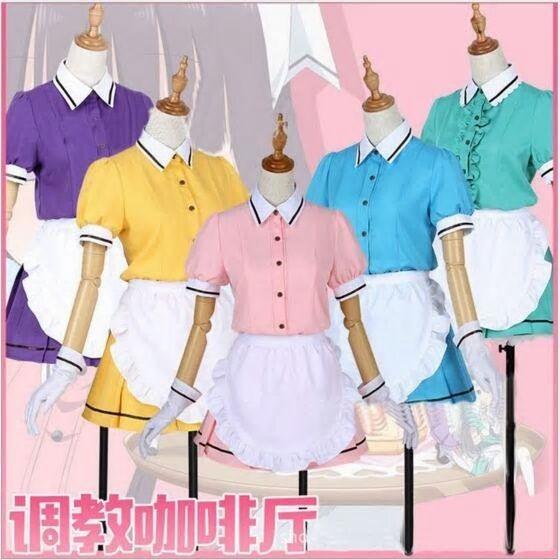 Blend·S Hideri Kanzaki Maid Suit Dress Uniform Cosplay Costume Outfit