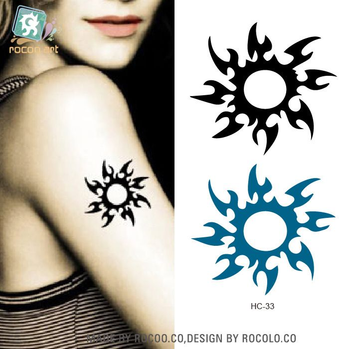 2pcs/lots Waterproof accessories tattoo stickers and little fresh sun flower tattoo sexy personality HC1033