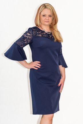 1a86579424 Elegancka sukienka XXL 40-60 na wesele PAOLA duże rozmiary - XELKA odzież  damska online