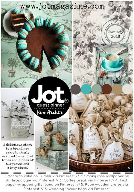January 2016 Mood Board Put Together By Kim Archer For Jot Magazine