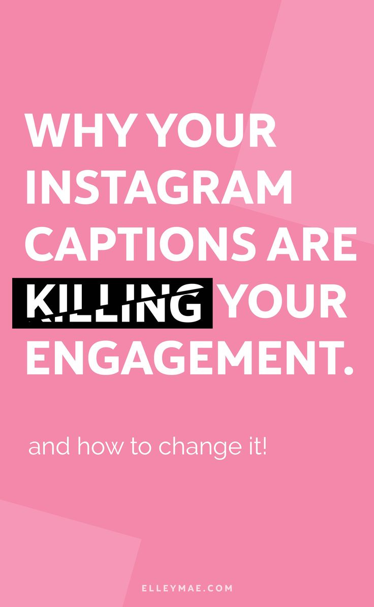 Are your Instagram captions killing your engagement? I have bad news for you #bossbabe, the chances are, you're doing it all wrong with your Instagram captions. Uh oh! Let's fix it! With my 3-step-formula, you can getting better Instagram engagement, gain followers FAST & grow a loyal tribe! How does that sound? Crazy amazing huh?! Let's dive in   Learn More at ElleyMae.com