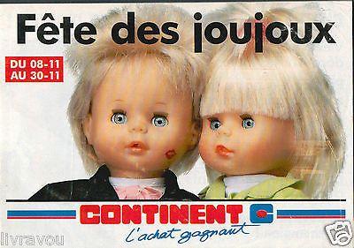 ▬► Catalogue Jouets Continent 1991 Poupées_Tortues Ninja_Lego Technic_Gie Joe