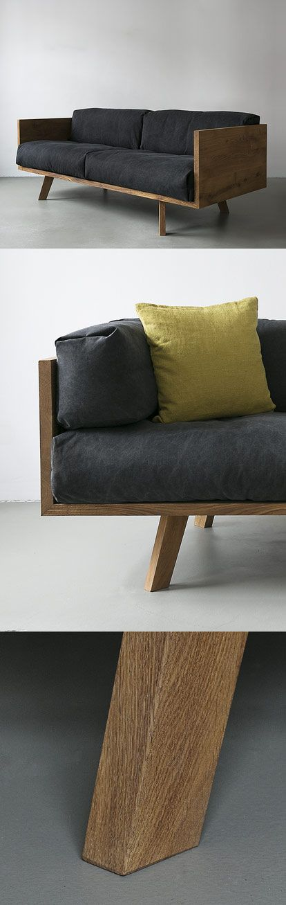NUTSANDWOODS – Oak Linen Sofa