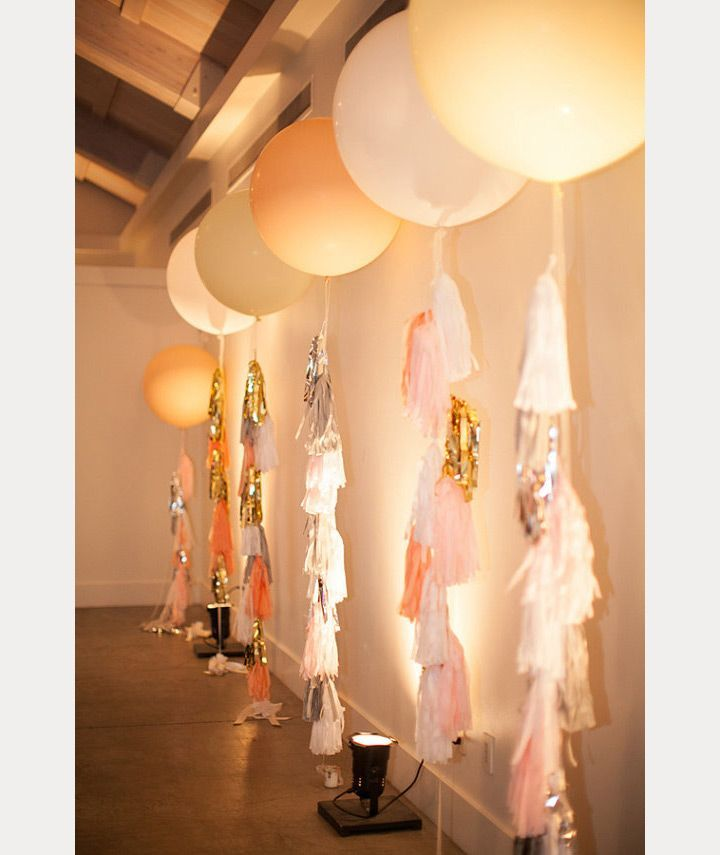 these wedding balloons look so good all lined up in a row! ~  we ❤ this! moncheribridals.com
