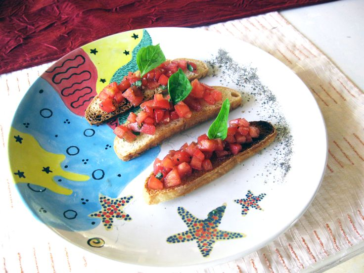 Bruschetta with Tomatoes & Basil is one of the favorite starters... Toasted Ciabata bread topped with diced & peeled tomatoes, tossed in virgin Olive oil, Basil, garlic & Balsamic www.diningroomcandidasa.com  #bali #candidasa #restaurant #baliculinary #food #vegetarian #nutfree #delicious #foodie