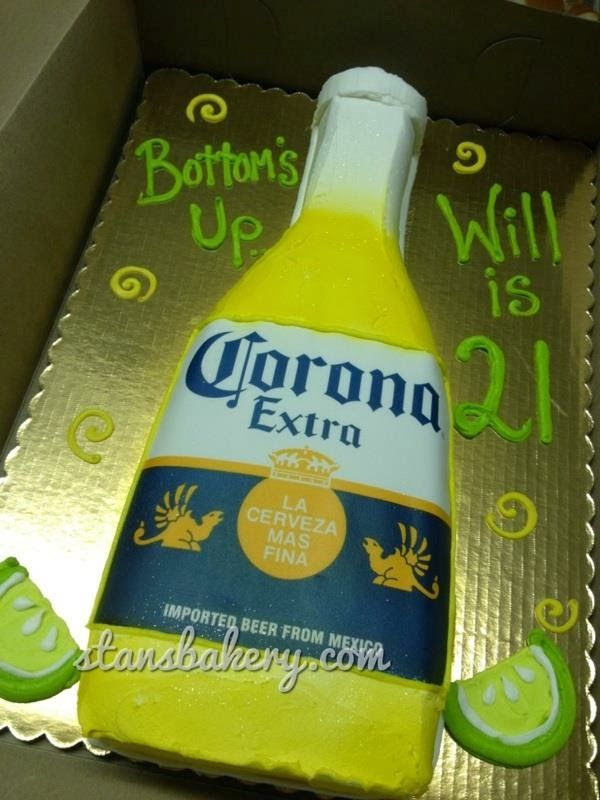 corona beer birthday cakes | Leslie's Cool Cakes from Stan's Northfield Bakery