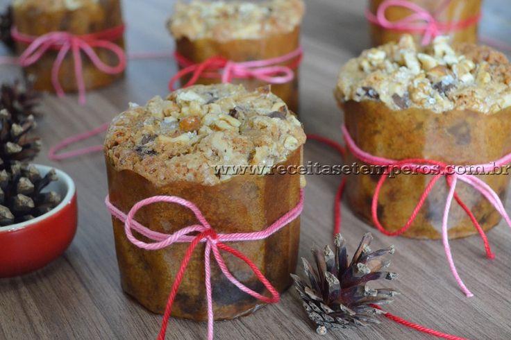 Bolinho de nozes com gotas de chocolate | Receitas e Temperos