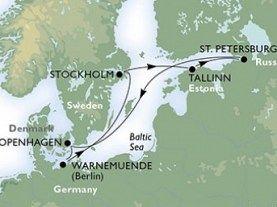 Copenhaga - Warnemunde - Stockholm - Tallin - St Petersburg - Copenhaga