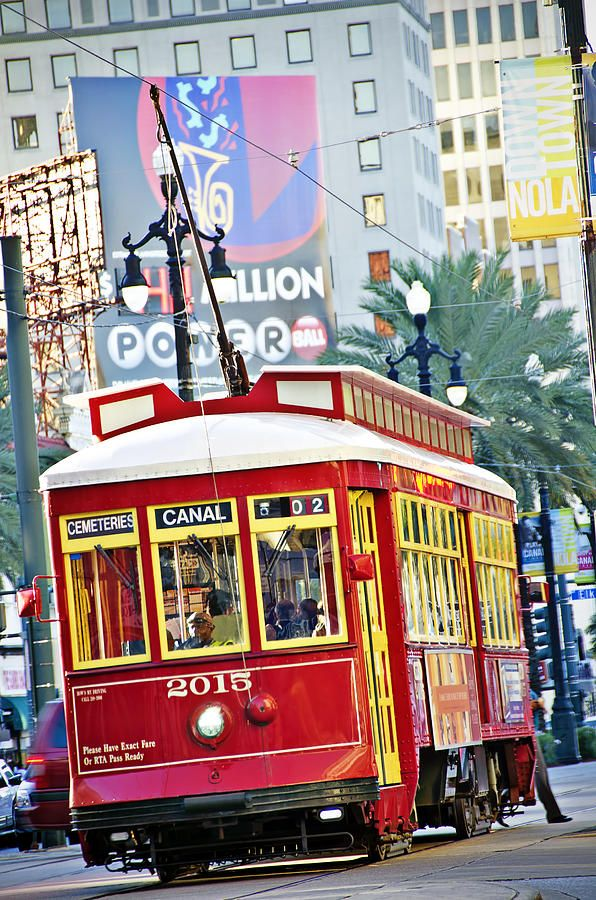 ✮ New Orleans StreetcarOrleans Traditional, Gardens District, Orleans Streetcar Rid, Beautiful, Art Prints, Cars Riding, Street Cars, Blustery, Canal Street New Orleans