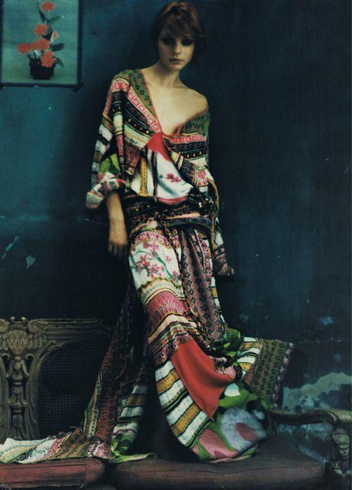 My Bohemian Style  Patchwork kimono-style dress/caftan. I'm in love.  bohemianshoebox:    (via textilesandothersuchthings, hasslethehoff)