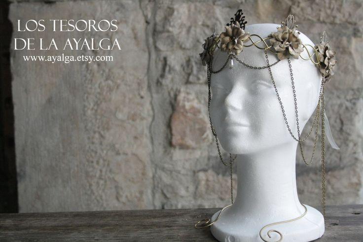 floral Goldkrone von Ayalga auf Etsy
