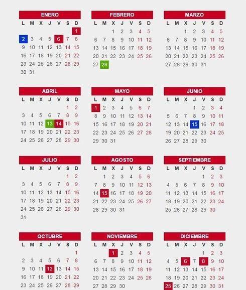calendario 2017 con festivos - Buscar con Google