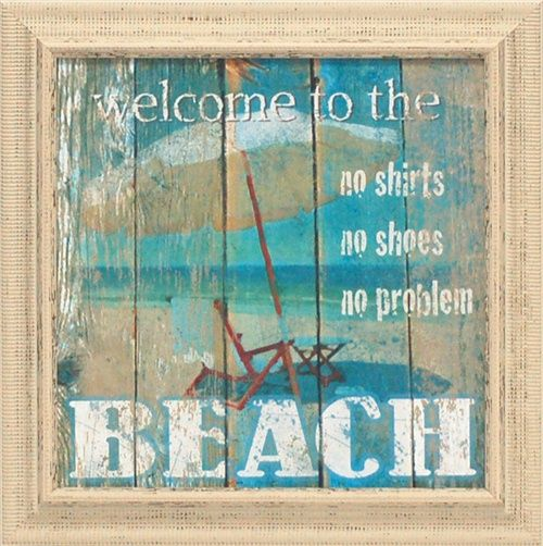 Beach welcome
