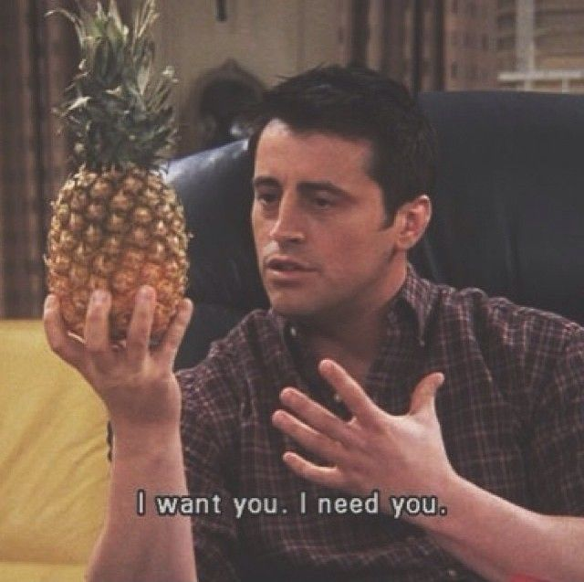 Its so funny he is practising lines for a play with a pineapple and the he has to kiss it