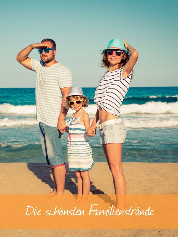 Wer mit Kindern einen Strandurlaub plant, sollte einige Dinge beachten: flacher Strand, niedrige Wellen, Sicherheit ... Damit einem schönem Strandtag nichts im Wege steht, haben wir die Schönsten herausgesucht.