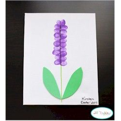 "So it says it's a hyacinth, but I made it a ""lupine"" instead...we read 'Miss Rumphius,' and then did the art to make our hallway bulletin board ""more beautiful."" :) So easy to prep!!"
