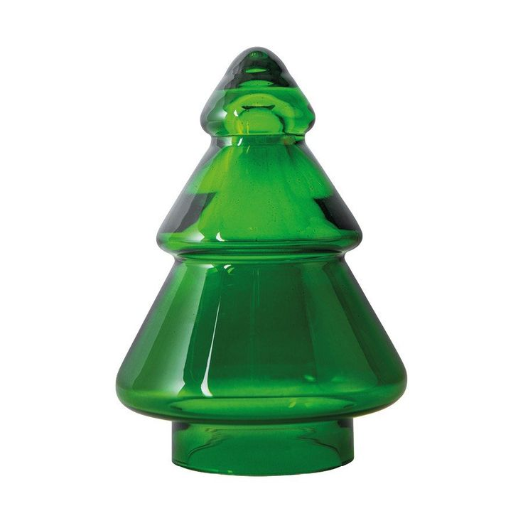 Hadeland Glassverk - JULETRE GLASS GRØNN, ønsker meg alle størrelser.