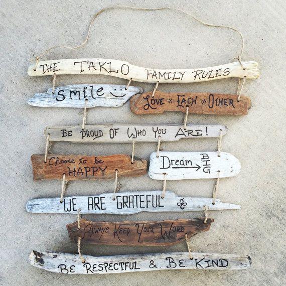 La famille règles bois flotté signe Collage par DestinationTree