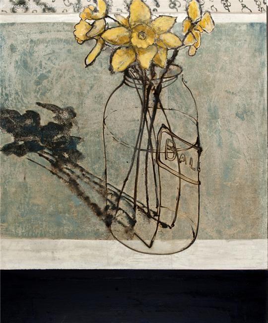 Daffodils: David Konigsberg: Konigsberg Still Lif, Art Gardens, Illustrations Paintings, Art Journals, Art Ilustracion Afich, Art Flowers, Flowers Lovers, David Konigsberg Repin, Konigsberg Daffodils