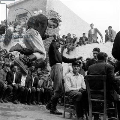 Wedding at Anogia, Crete, 1954 (b/w photo), Photographer Dimitris Harissiadis…