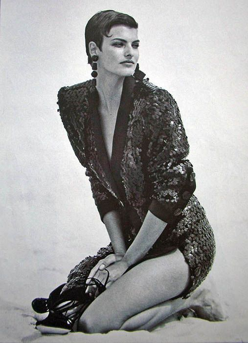 Vogue US - Jet Set - Linda Evangelista - Sep 1989 Photos