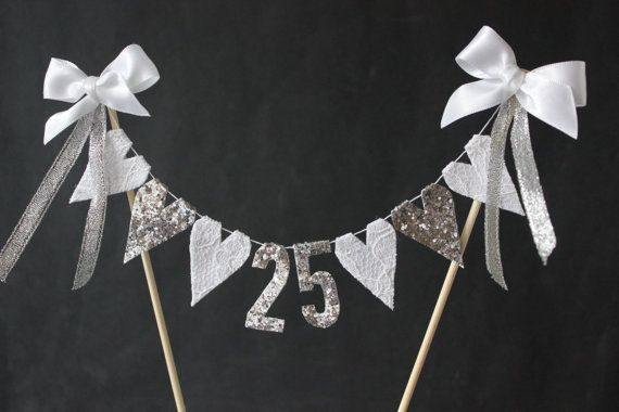 25th silver wedding anniversary cake topper cake by SoLuvli