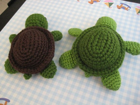 Crochet Pattern Cute Turtle Amigurumi PDF | 428x570